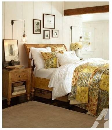 pottery barn ashby sleigh bed dresser rustic pine finish for rh pinterest com
