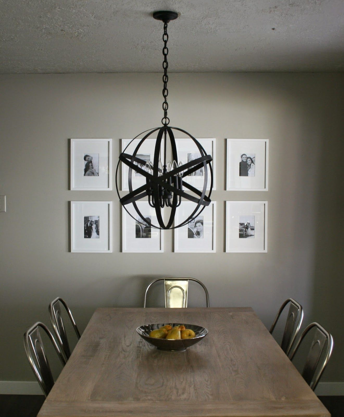 ANDREA WEST DESIGN BLOG: DIY Designer Black Orb Chandelier