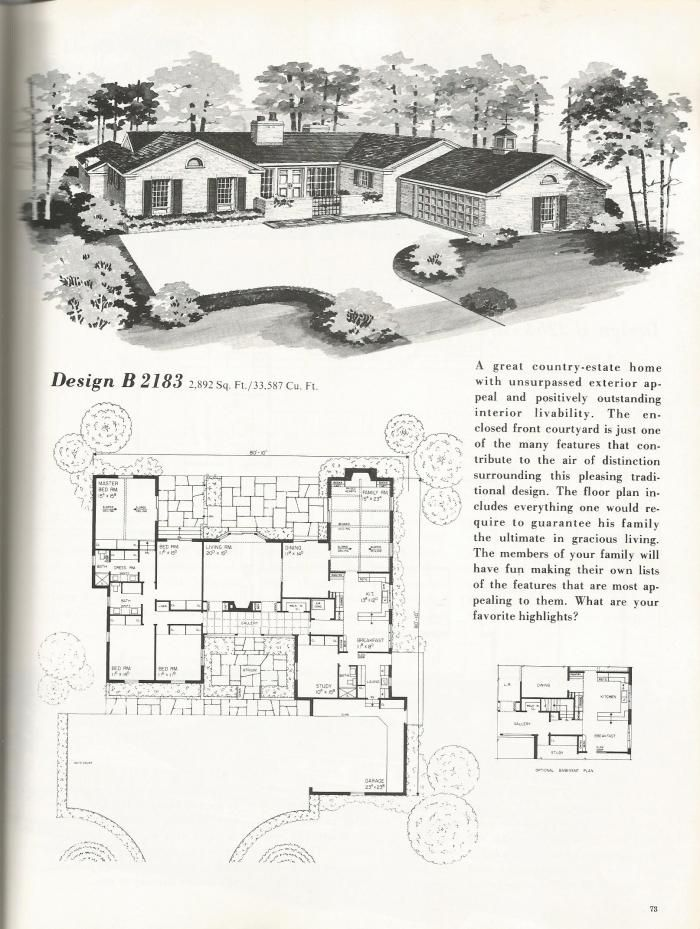 Vintage House Plans Mid Century Homes Vintage
