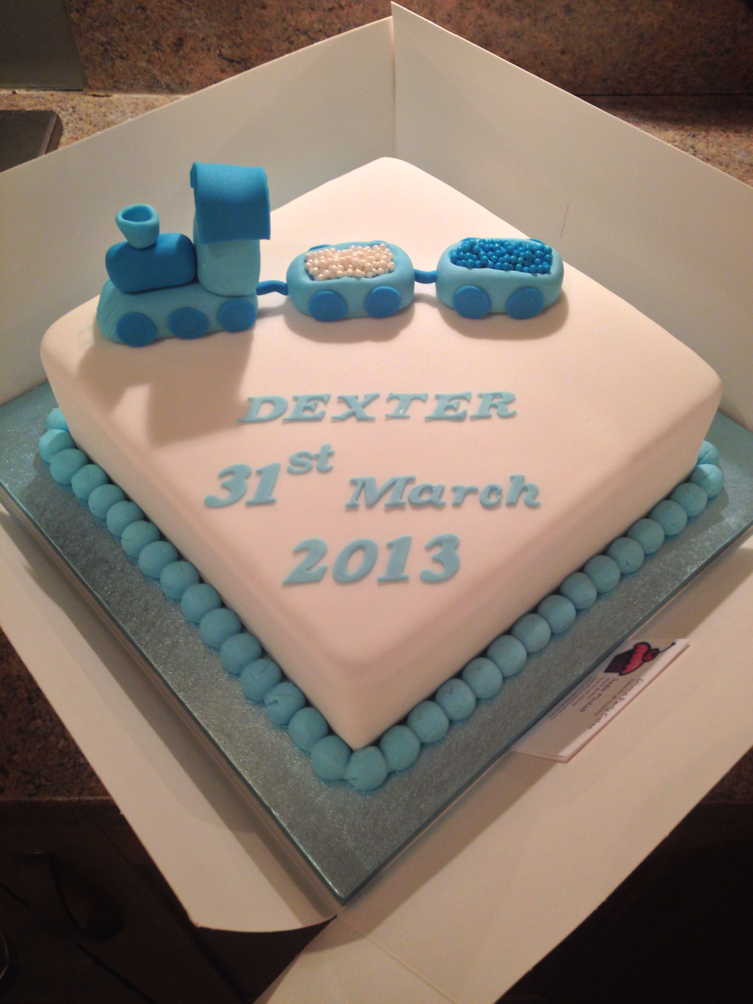 Dexters Naming Day Cake