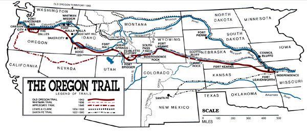 Oregon Trail On Us Map.Oregon Trail Map Pioneers Oregon Trail Oregon Trail