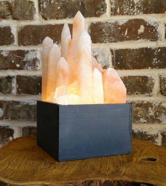 Crystalux Himalayan Salt Crystal Display Light Box And Lamp Himalayan Salt Crystals Himalayan Salt Lamp Salt Lamp