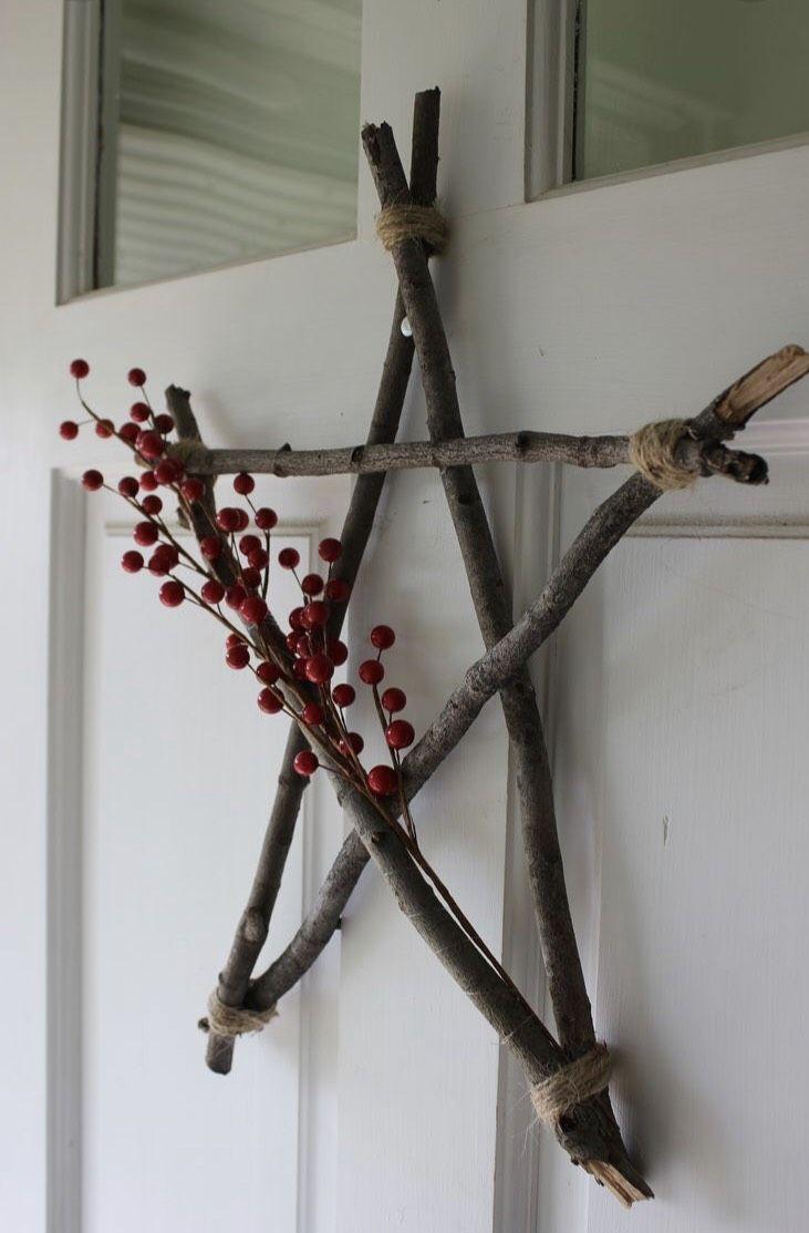 Ster van sprokkelhout ster maken tijdens de