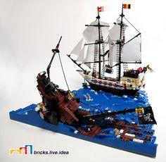 lego pirate ship minifig scale argh we be sunk - Lego Pirate