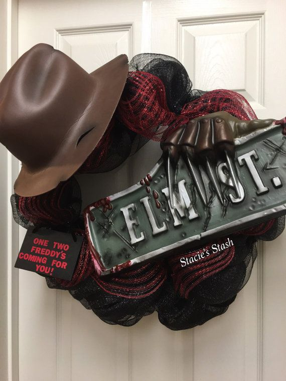 Freddy Krueger, Elm St, Nightmare On Elm Street, Halloween Decor