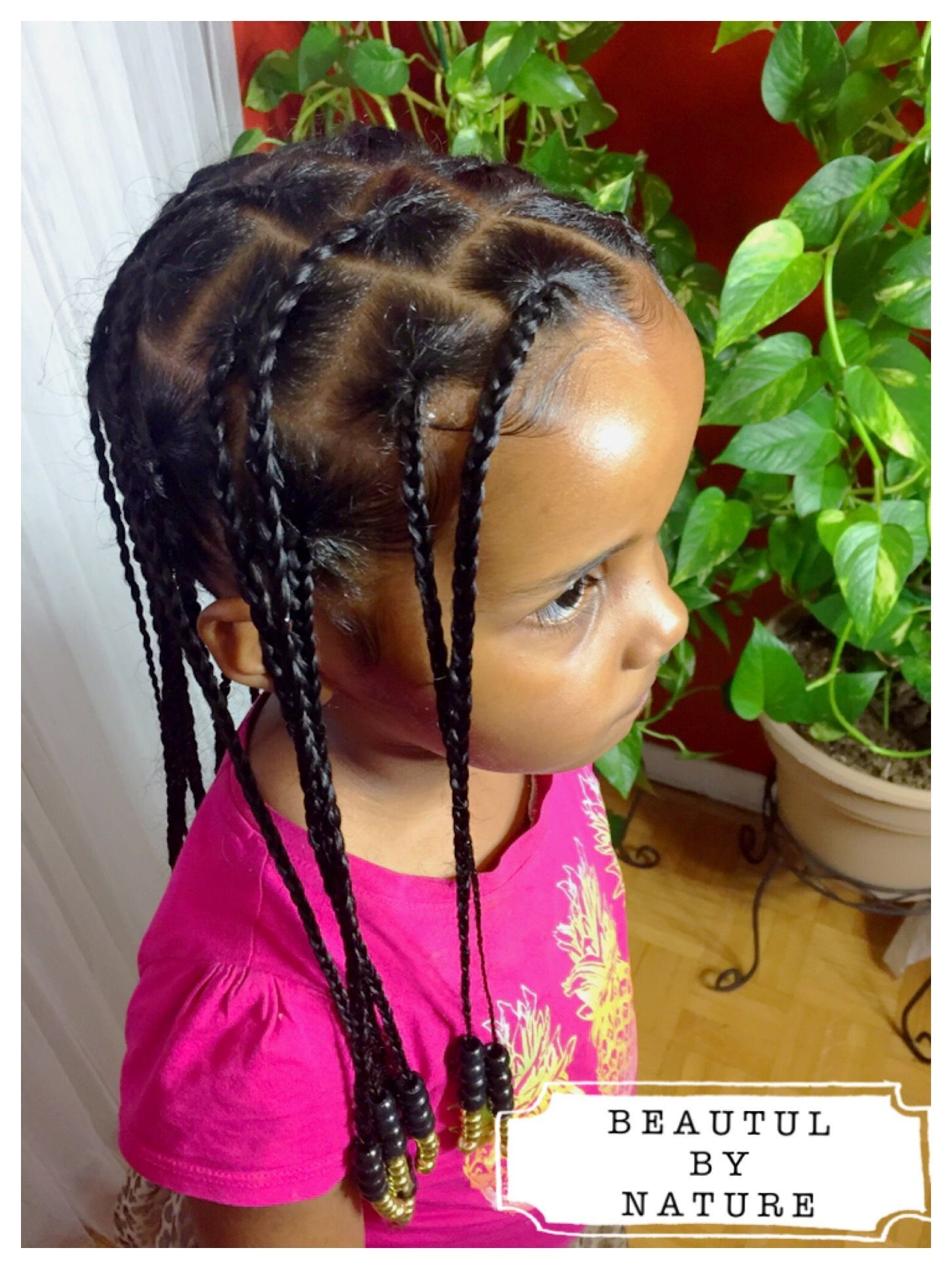 Natural hair box braids for kids Instagram @_beautiful.by