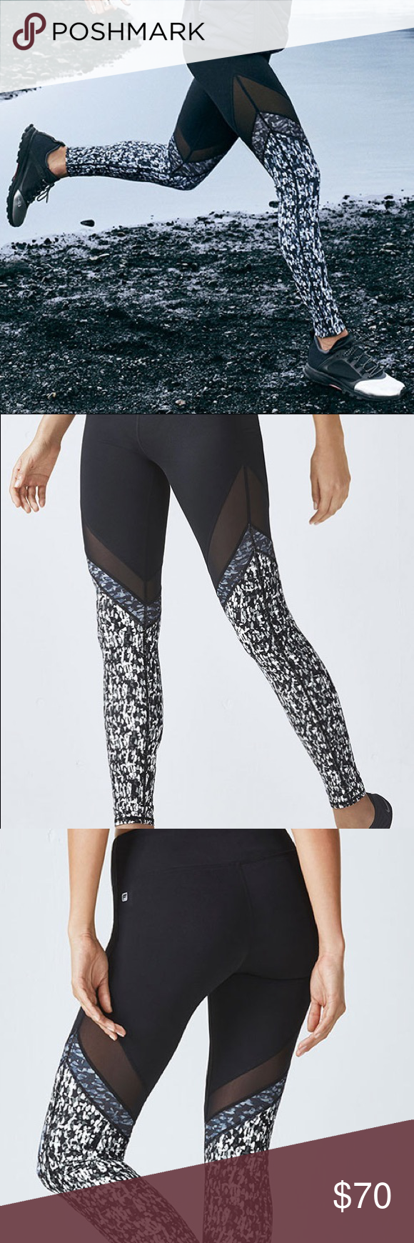 715622a87e9d88 Fabletics Brogan Mesh Legging NWT! Bought without trying on and too small.  Originally purchased for 80$, and trying to receive as much of my money  back as ...