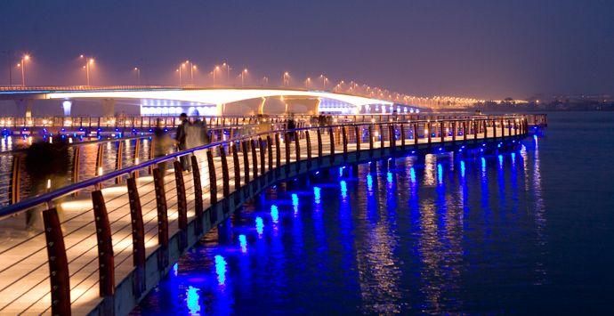 Bengbu Longzi Lake Bridge Park, Bengbu, China - Asia - AECOM - A global provider of architecture, design, engineering, and construction services