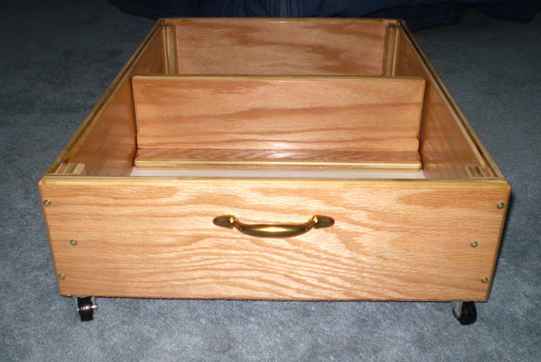 Under Bed Storage Rolling Drawer Storage Box