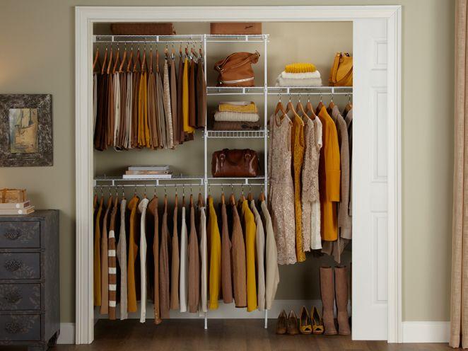 6 5 8 Closet Shelving Kit Closet Organization Rubbermaid