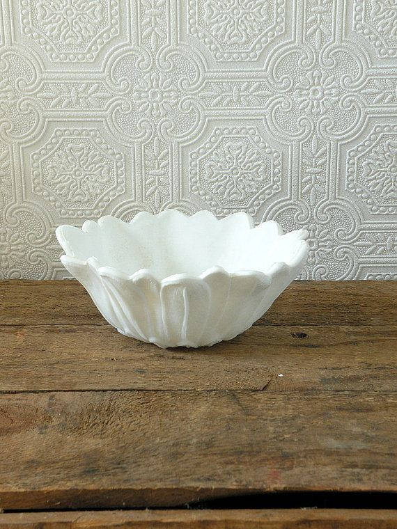Vintage milk glass petal bowl by OliverandRust on Etsy, $15.00