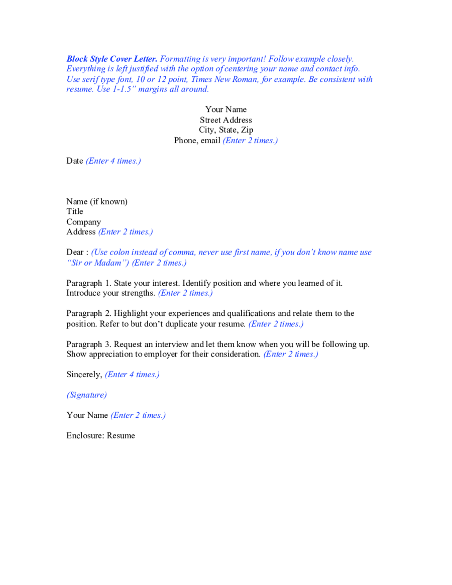 application letter sample modified block style format best free home design idea inspiration