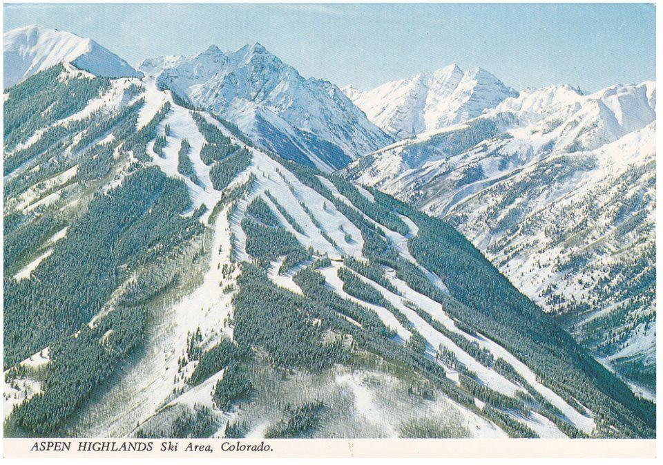 Aspen Highlands Ski Area W Highlands Bowl On The Left