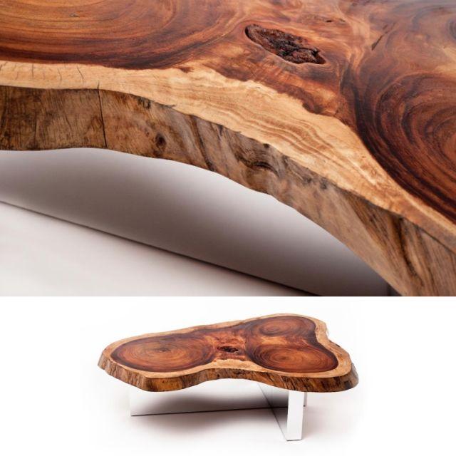 altholz couchtisch plexiglas kombination rotsen | A Wood Slab ...