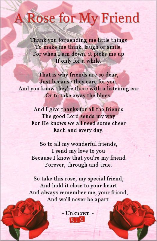 A Rose For My Friend   Poems   Pinterest   Rose, Friendship and Poem