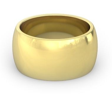 Love This 12mm 14k Gold Heavy Wedding Band Domed And Comfort Fit