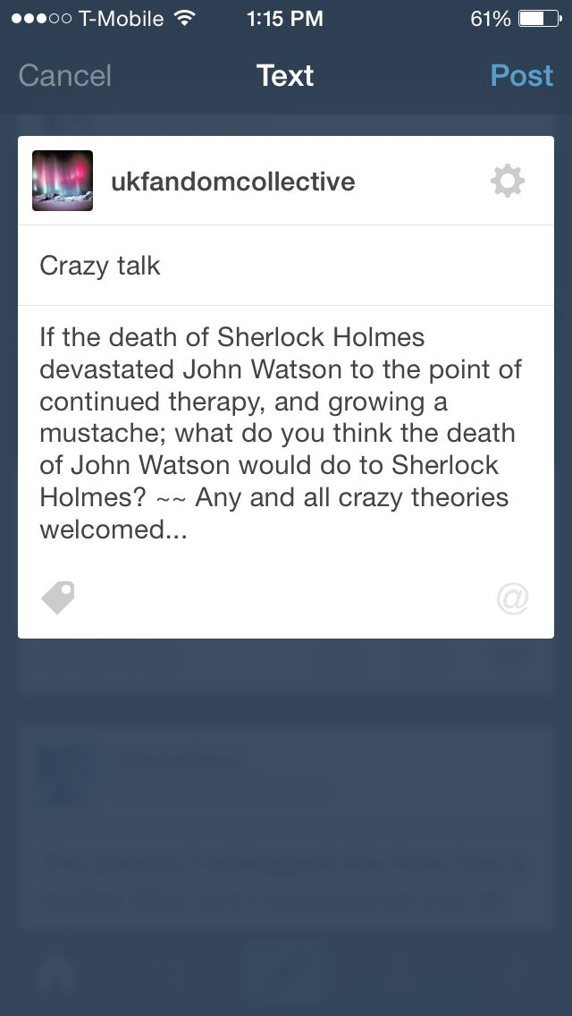 Have you ever wondered how Sherlock would react, and cope if John were to die?