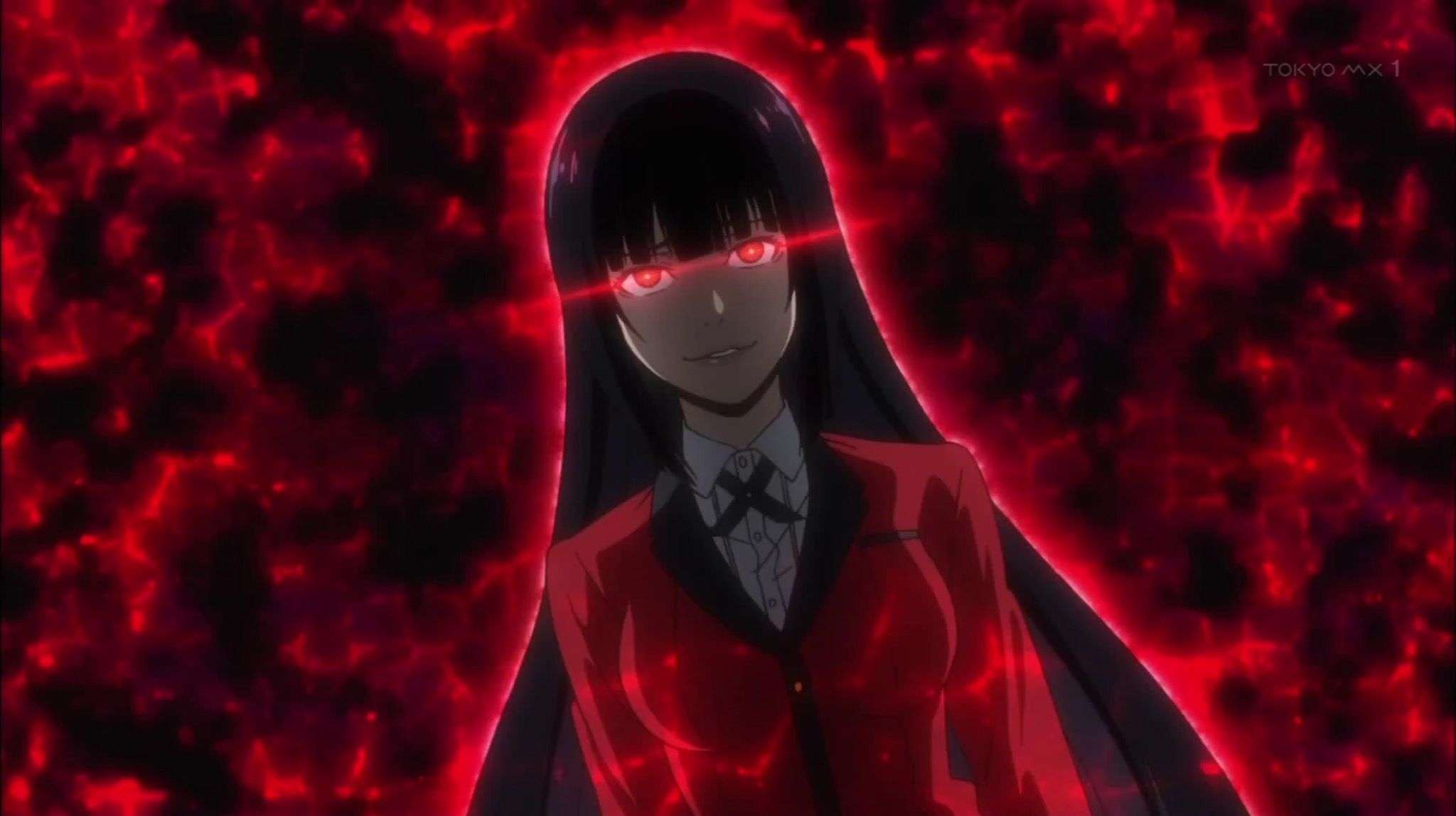 More like She-will-eat-you-alive face of Yumeko