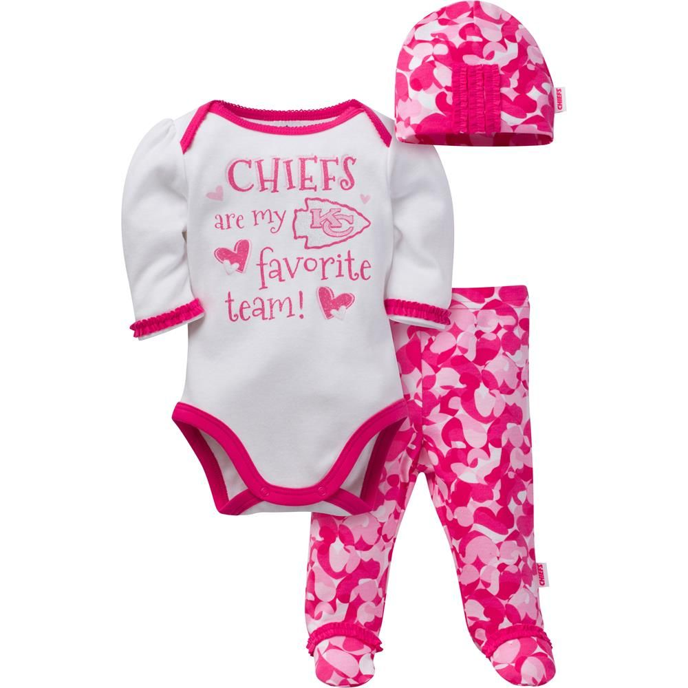 Chiefs Baby Girl 3 Piece Outfit  f0f4c33d8