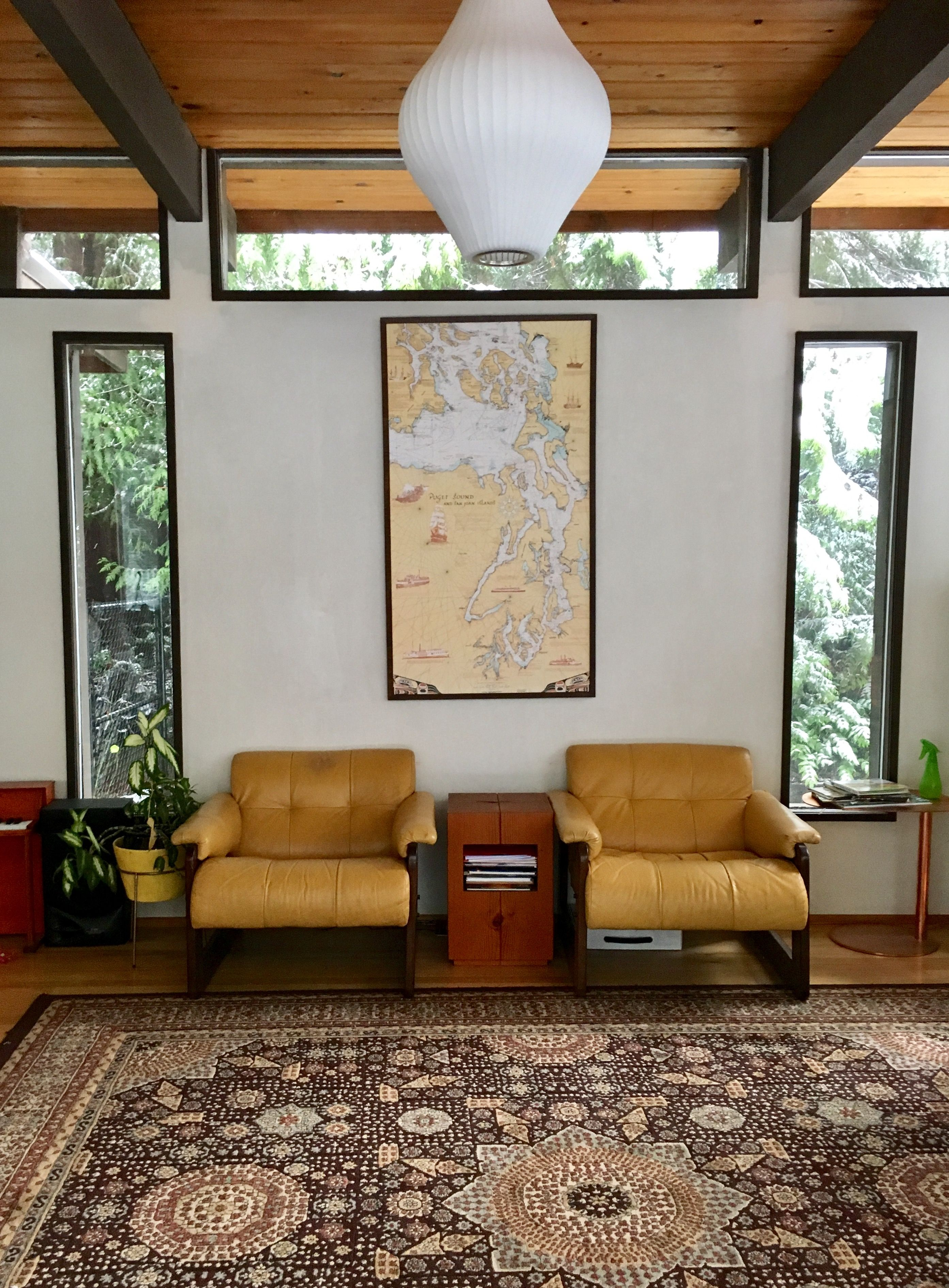 Interior of 1963 Burrows home in Seattle