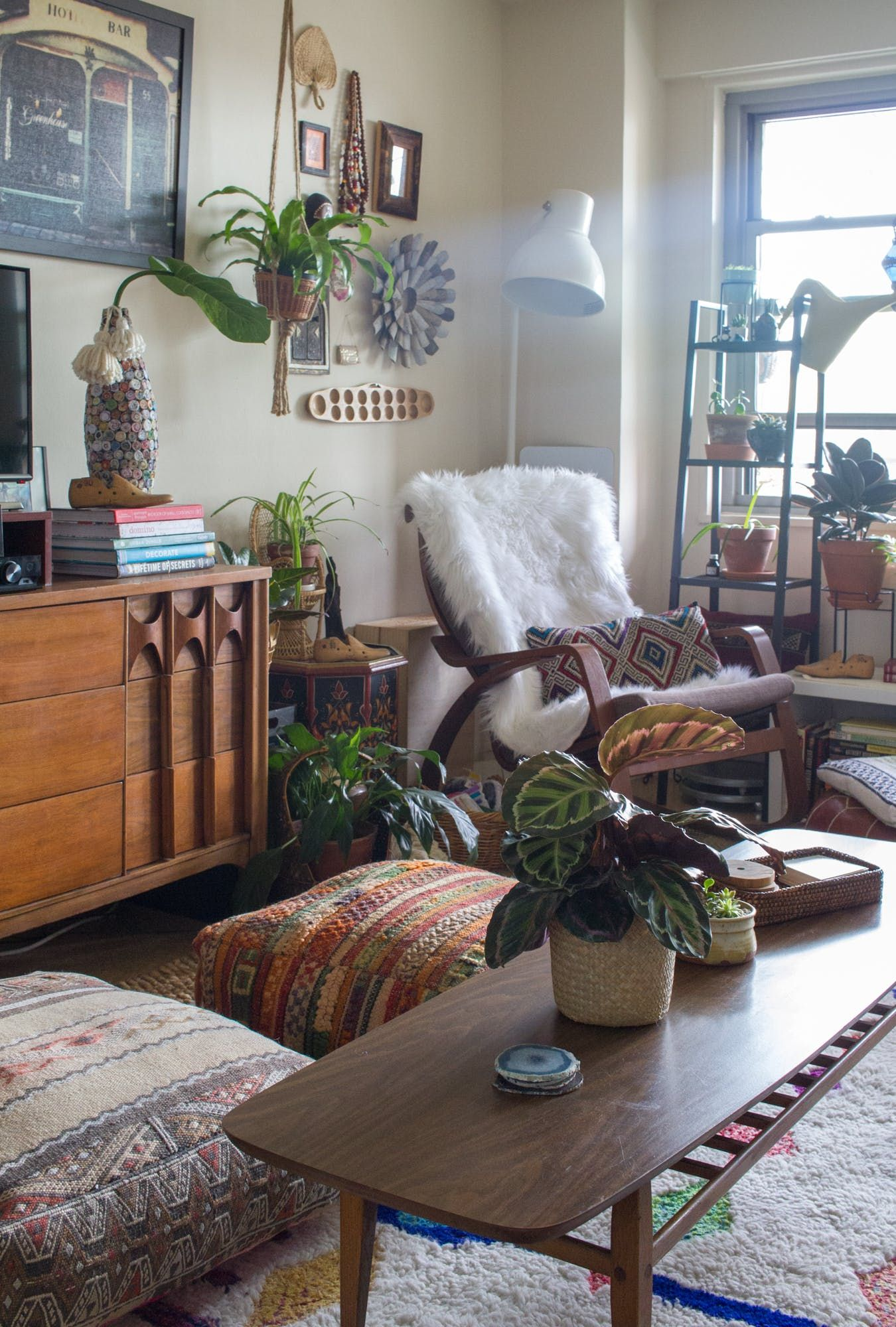 living room poufs%0A The credenza is the Kent Coffey Perspecta Triple Dresser Credenza purchased  from John Ricciardelli at the