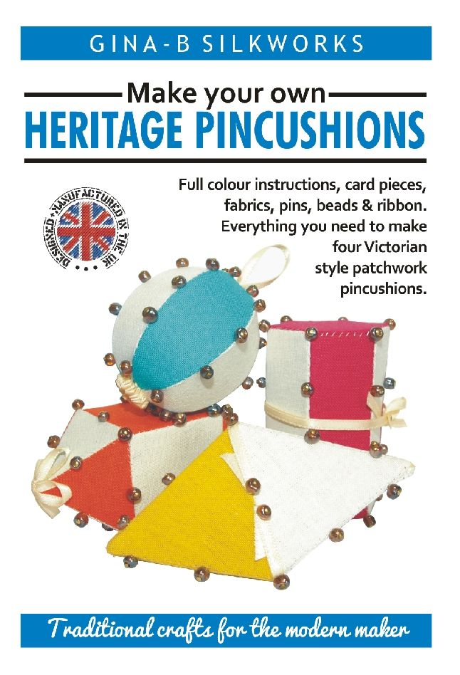Everything you need to make four Victorian style patchwork pincushionsThese little dimensional pincushions were traditionally made by Victorian ladies using up scraps of fabric and pieces of card they had carefully cut to shape. This kits brings this up to date by including precision cut card pieces so that you can get on with the making!The method uses 'English Paper Piecing' patchwork techniques to create 3 dimensional fabric shapes.�The pins are placed along the seam lines to ensure the…