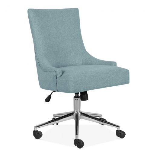 cult living yuma swivel office chair fabric upholstered light blue rh pinterest com