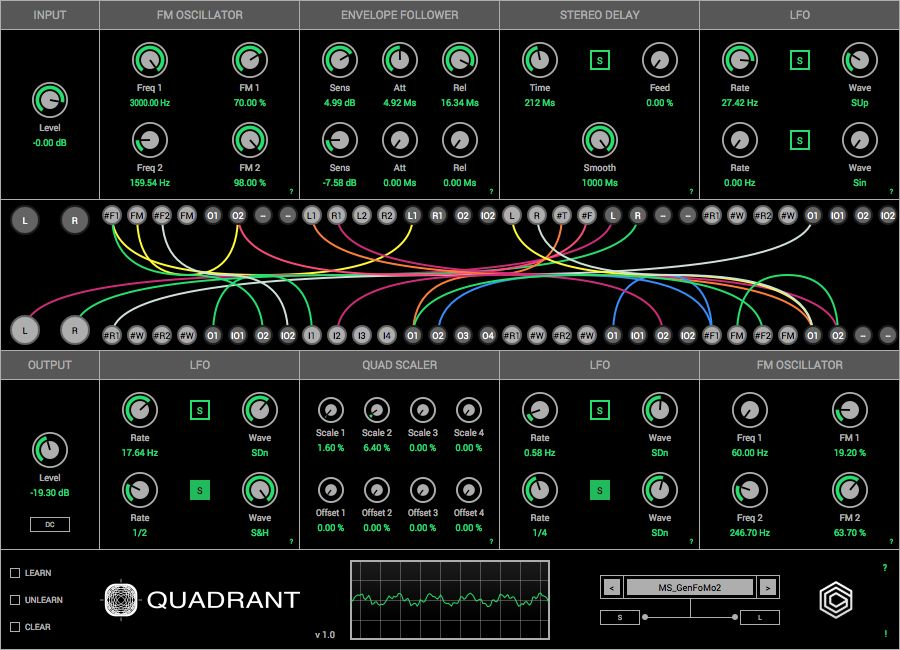 Quadrant Is A Modular Sound Generator And Effects