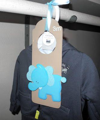 Closet Dividers - love this! I may make this for my future nephews closet. :-)