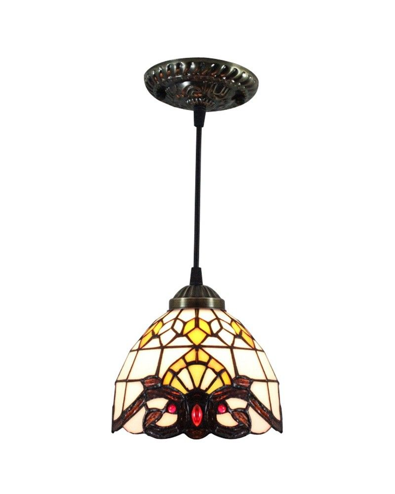 Tiffany Stained Glass Baroque Ceiling Pendant Lighting | Feather my ...