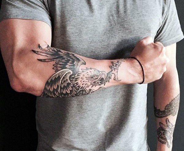 60 Bird Tattoos For Men From Owls To Eagles Tattoos For Guys Bird Tattoo Men Forearm Tattoo Men