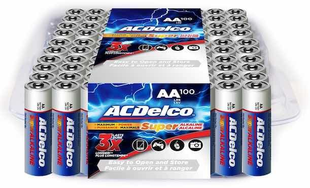 Amazon Ac Delco Super Alkaline Aa Batteries 100ct Pack Just 11 93 Shipped Mojosavings Com Alkaline Battery Batteries Acdelco