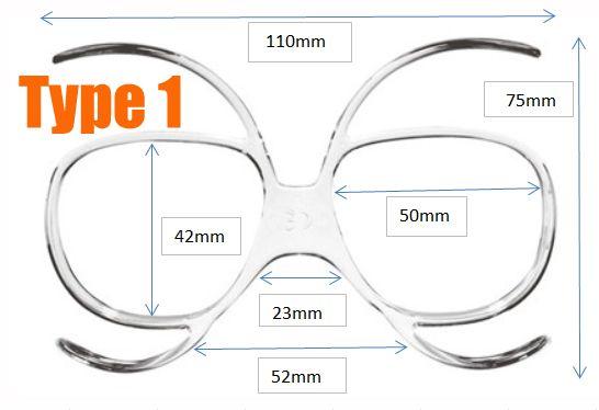 edf8ea1167 Universal Goggles Insert (Prescription Lenses Available) for Ski ...