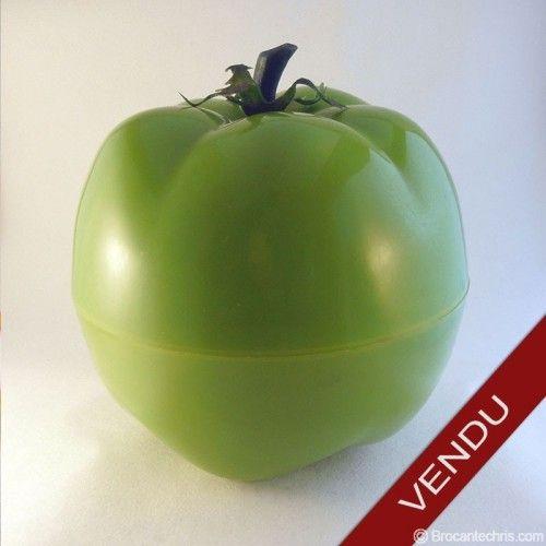 Seau à glaçons kitsch. Tomate verte vintage