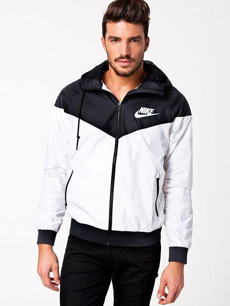 62102c6a7f94 Nike Windrunner - Nike - White Black - Jackets And Coats - Clothing - Men -  NlyMan.com Uk
