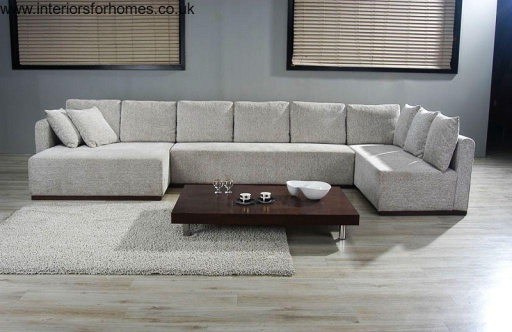 Large U Shaped Sofa Phenomenal Black Sectional Sofas