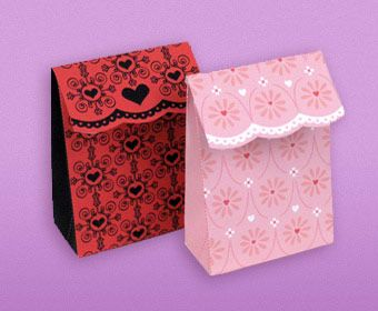 Free Printable Valentine's Day Fold-Over Gift Bags