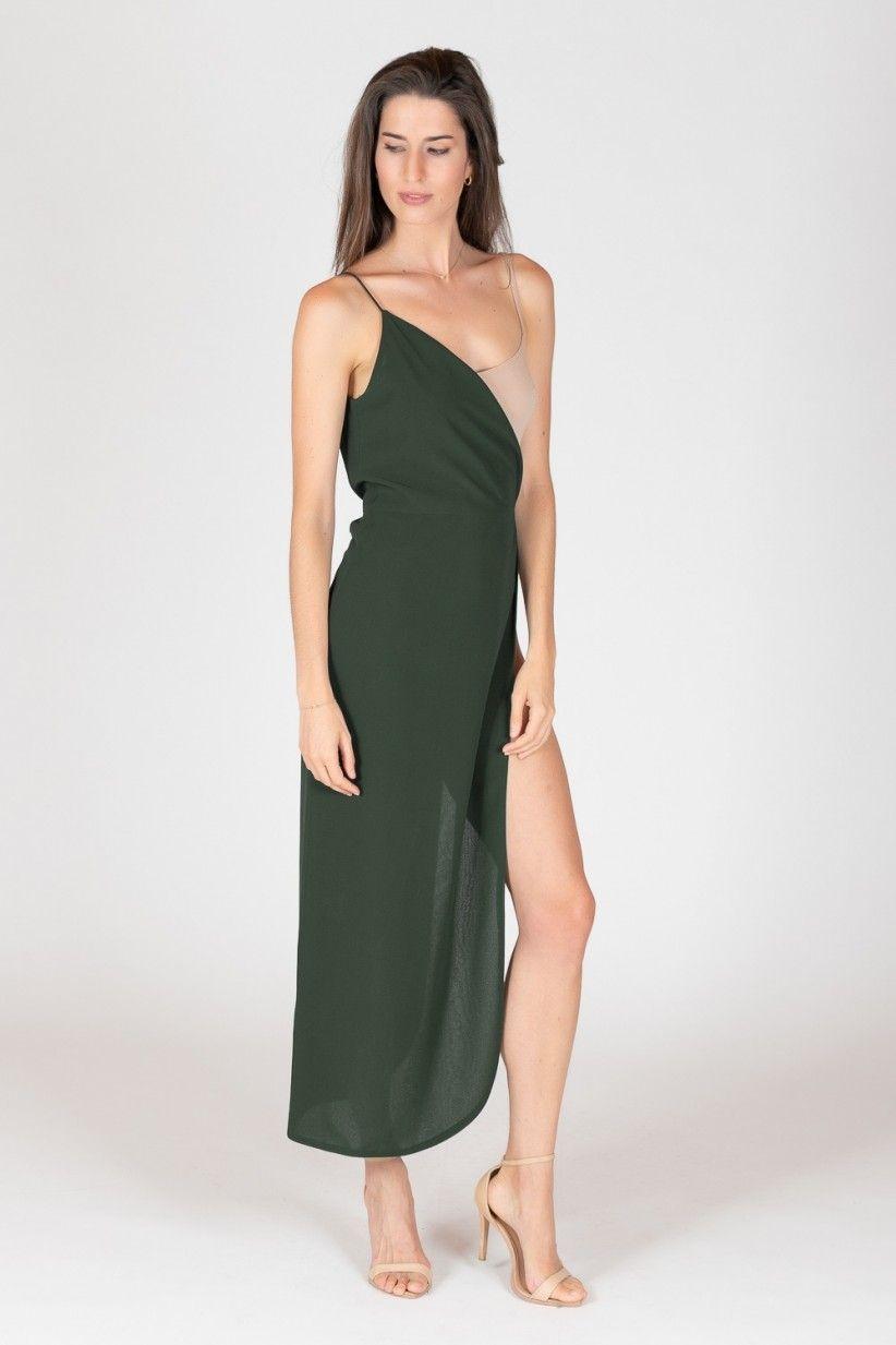 vestito Nori Green Dresses Mezzo Slate Shop WDEHe29IY