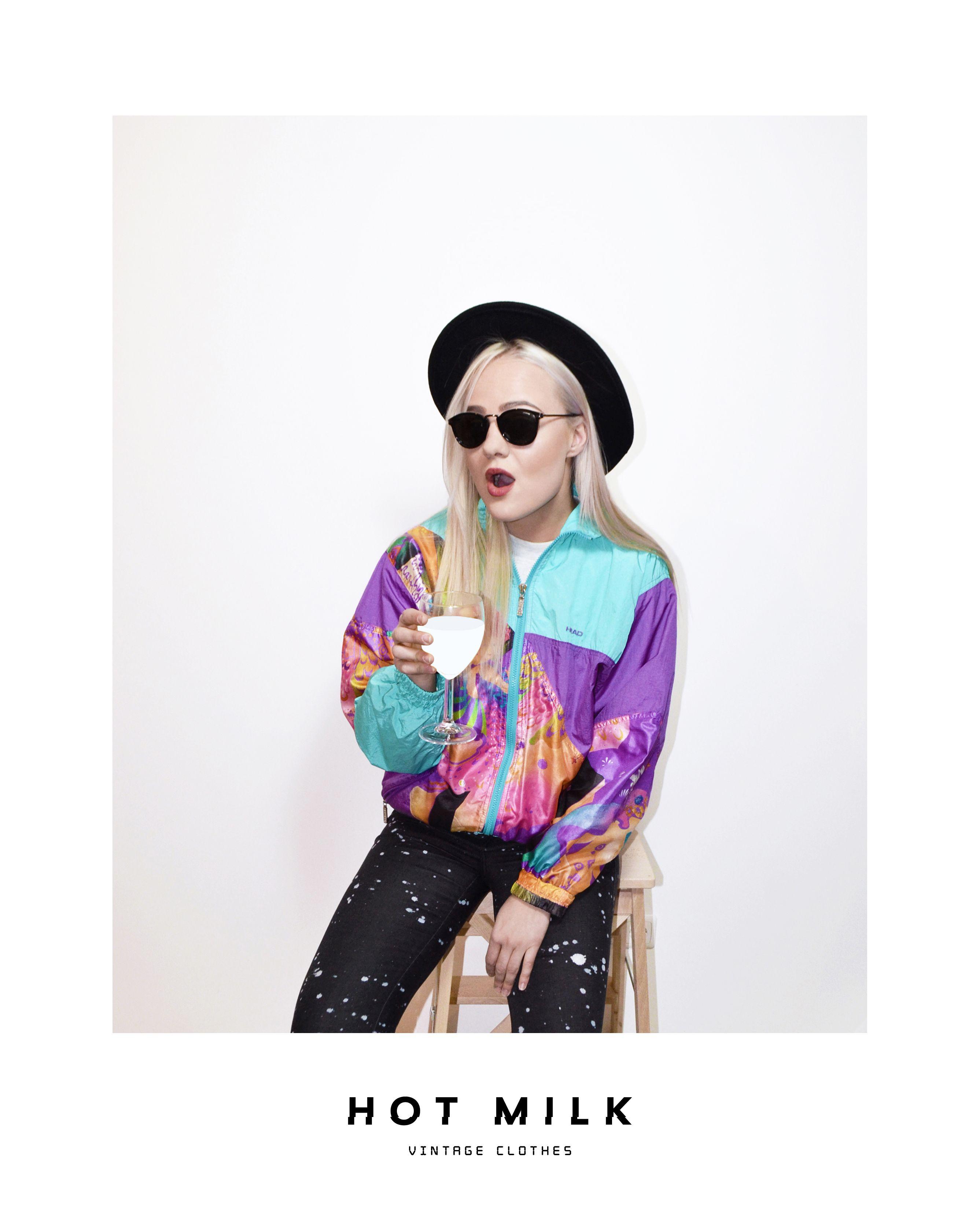90 S 80 S Multi Vintage Jacket Windbreaker Vintage Outfits Vintage Clothes Shop Vintage Clothing Online