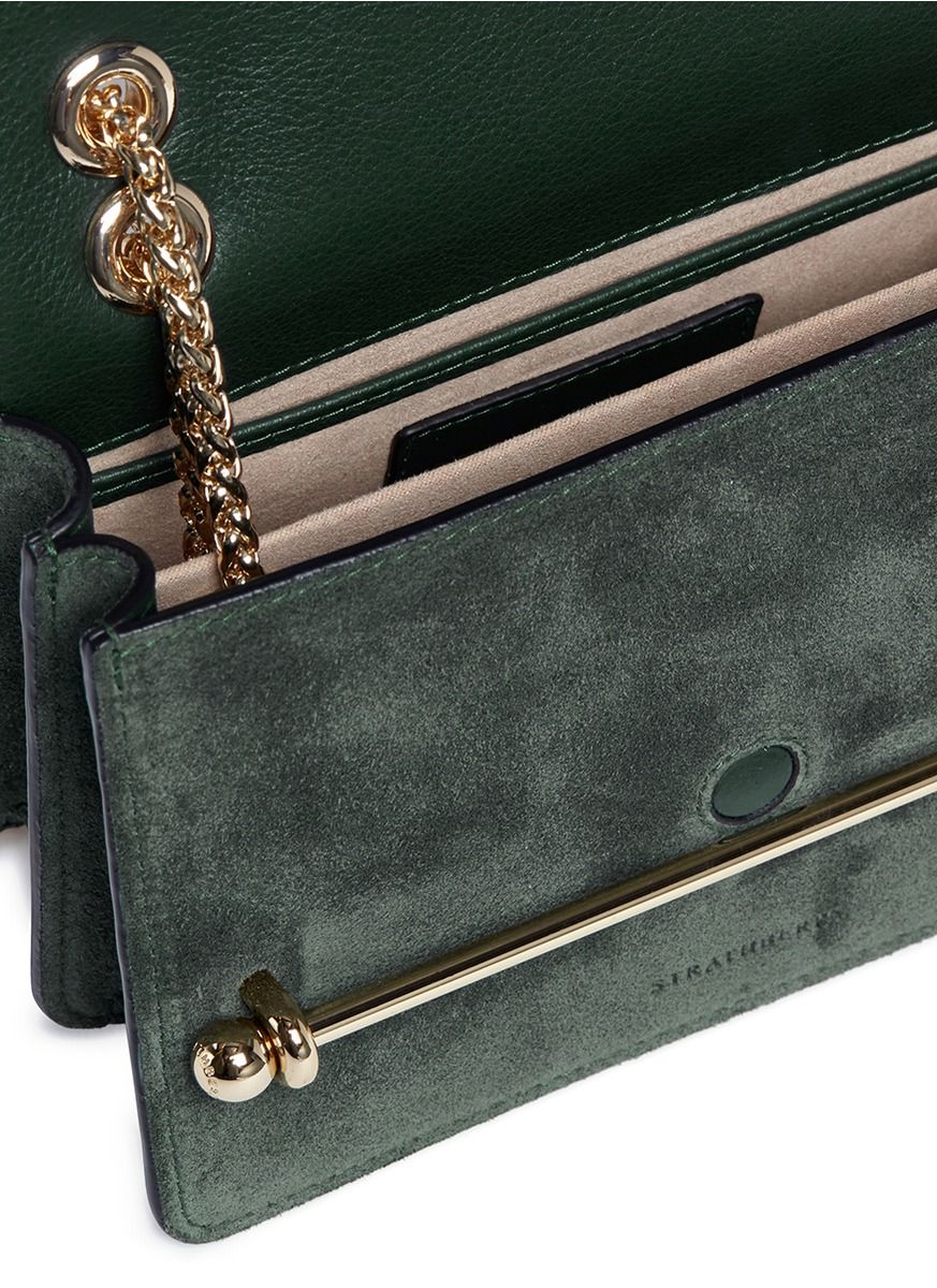 f99650aa8e2a 2 13 2018 Edinburgh - Strathberry  East West  Mini leather flap crossbody  bag in Bottle Green (US 545).