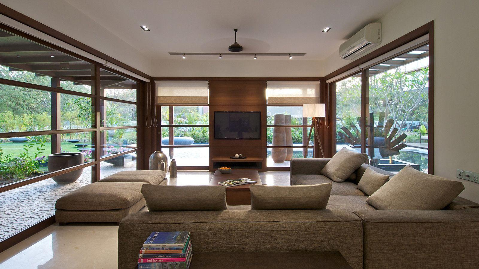 timeless contemporary house in india with courtyard zen garden rh pinterest com