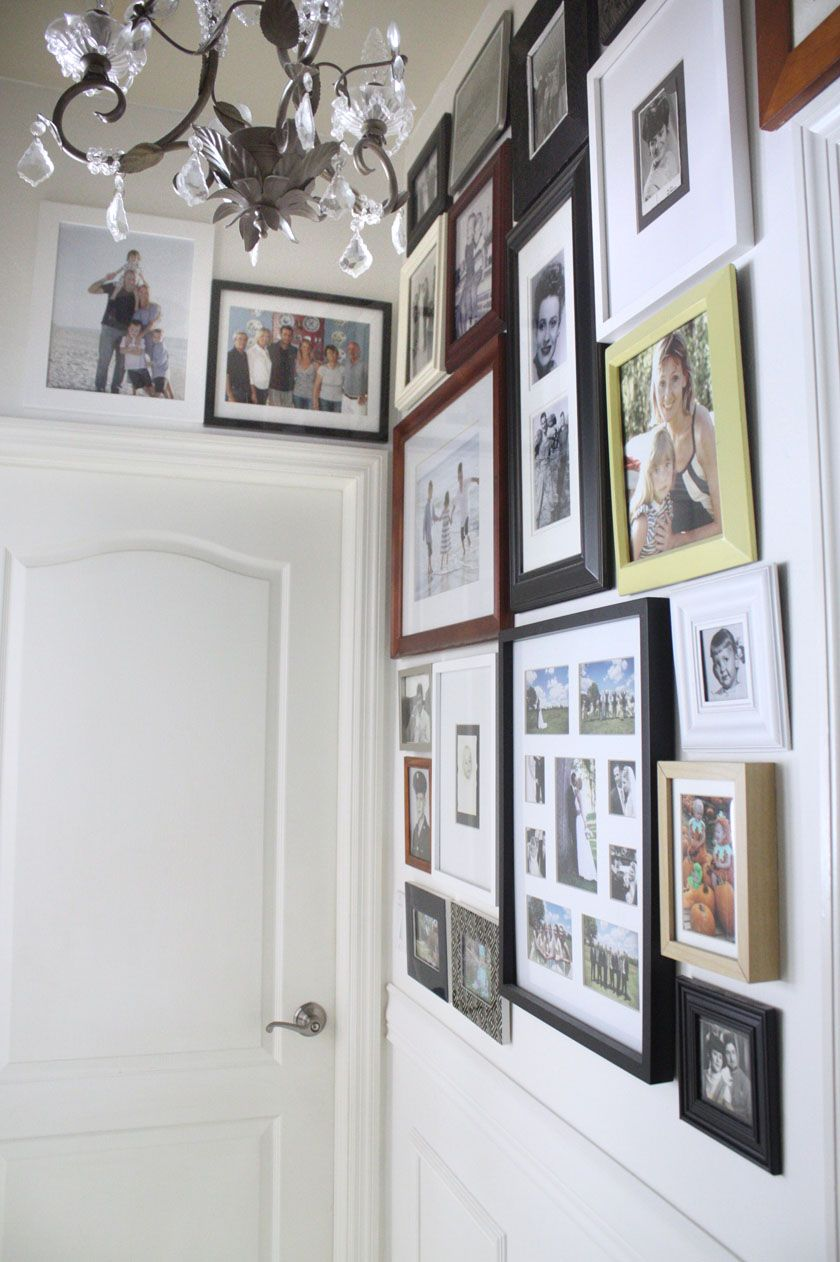 Hallway Gallery With Mismatched Frames Hallway Decorating Gallery Wall Hallway Pictures
