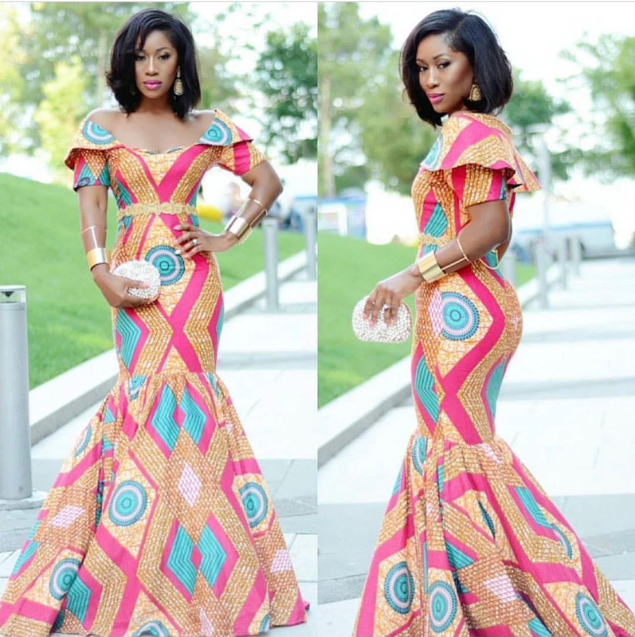 African print dresses for weddings  Pin by Djelika Diallo on African Fashion  Pinterest  Africans