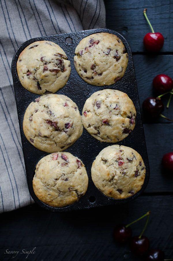 Cherry Vanilla Muffins Easy Recipes Savory Simple Recipe Dried Cherry Recipes Vanilla Muffins Sour Cherry Recipes