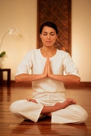 woman meditating  meditation  calm spaces  yoga poses