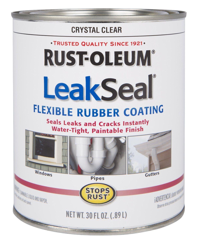 Rust Oleum 275116 Stop Rust Leak Seal Flexible Rubber Coating Sealant Crystal Clear Seal Leaks Rustoleum Rubber Sealant