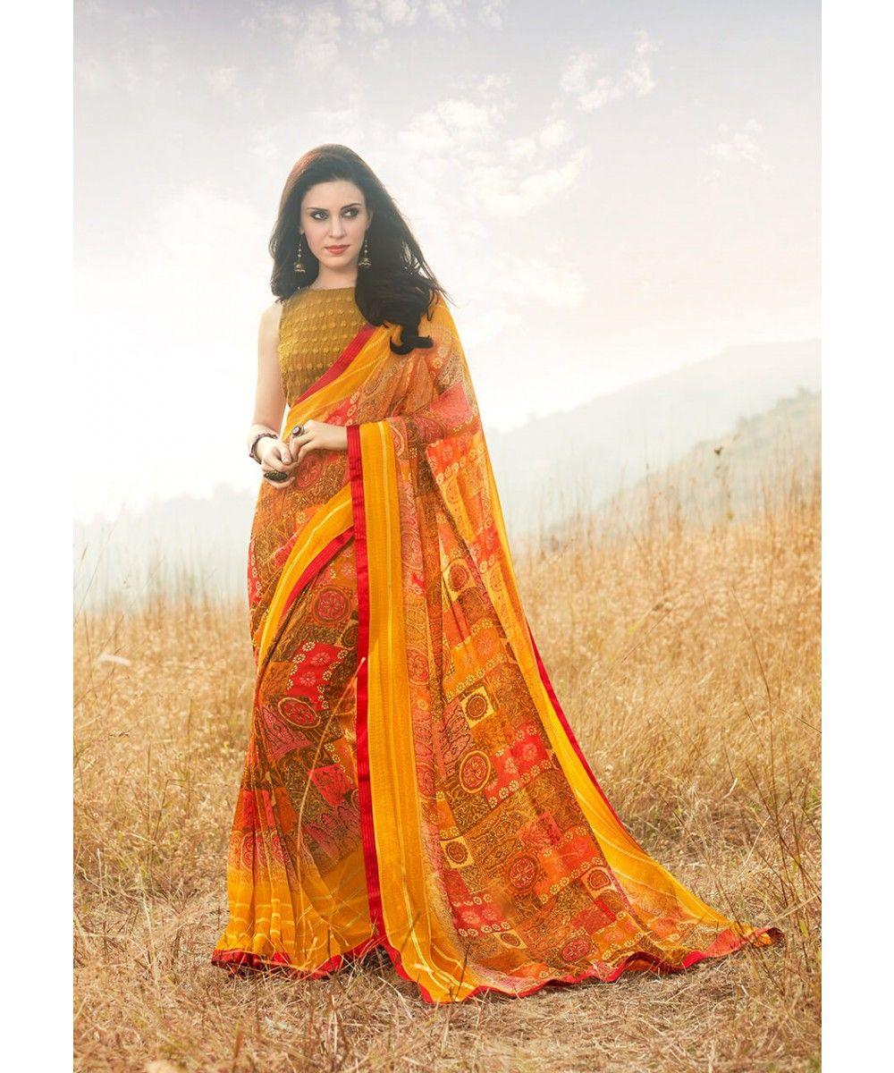82300666802 Georgette Saree - Sanskar Ramya Collection