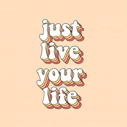 give credit! just live your life quote words iphone wallpaper background yellow aesthetic vsco