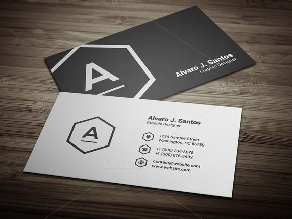 Check out Black \ White Business Card by FlowPixels on Creative - resume business cards