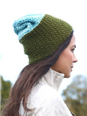 I'm With the Band Slouchy Hat | Yarn | Free Knitting Patterns | Crochet Patterns | Yarnspirations